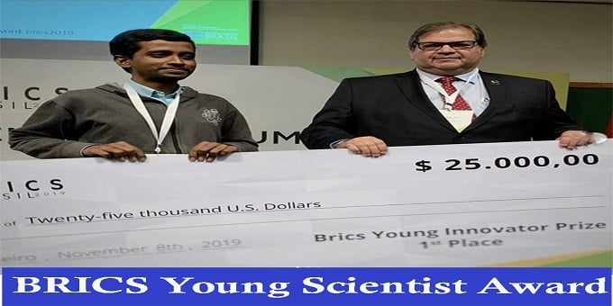 BRICS young Scientist Award