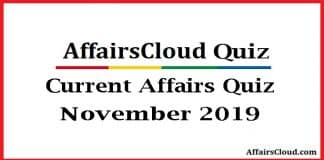 Current Affairs Quiz November 2019.new