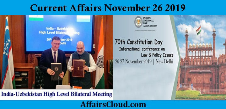 Current Affairs Today November 26 2019