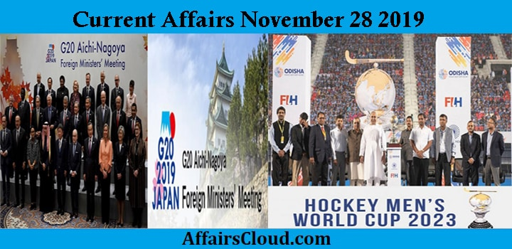 Current Affairs Today November 28 2019
