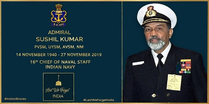 Former Navy Chief Admiral Sushil Kumar passes away