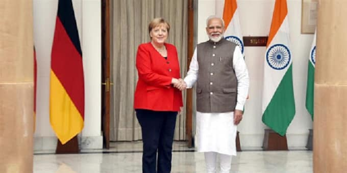 German Federal Chancellor Dr. Angela Merkel visited India
