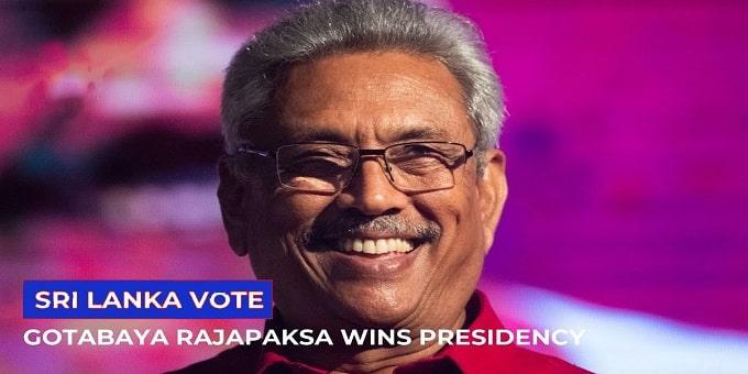 Gotabaya Rajapaksa wins Sri Lankan presidential election
