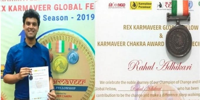 IIT gold medalist awarded Karmaveer Chakra new