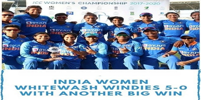 India won Women's T20 series against West West Indies - Copy