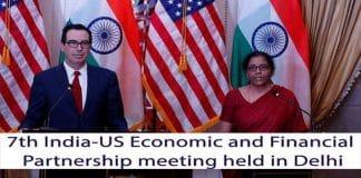 India&USA 7th economic & finance partnership