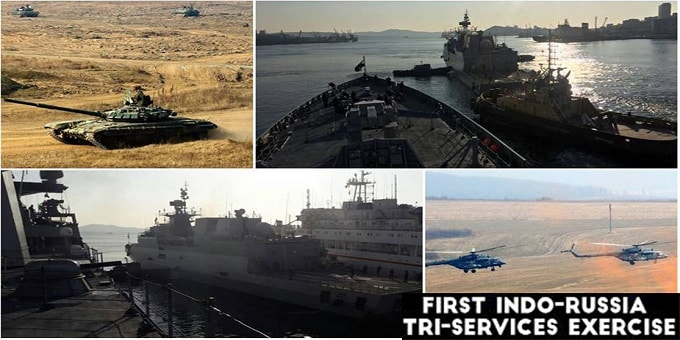 Indo-Russian joint tri-service exercise