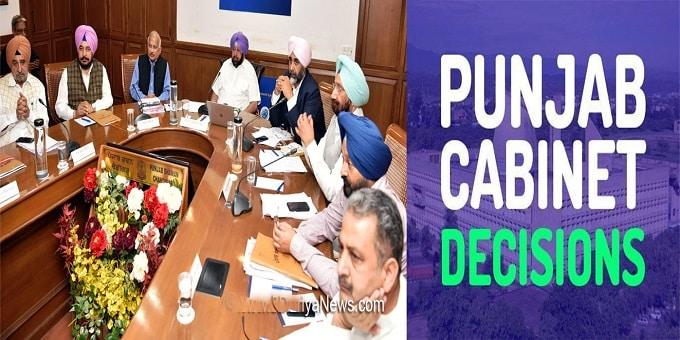 Punjab Cabinet decisions