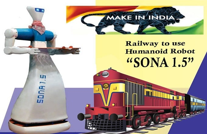 Railways To Use Humanoid Robots 'Sona 1.5'