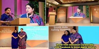 Smriti Irani addresses South Asia Safety Summit