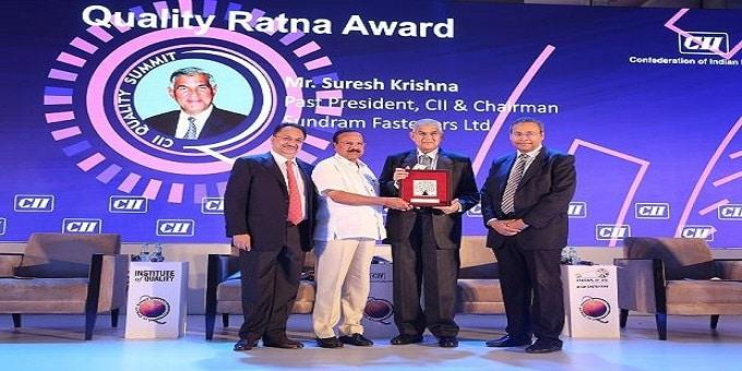 Suresh Krishna gets 'Quality Ratna' award