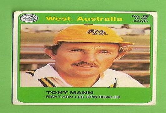 Tony mann Former australia cricket player