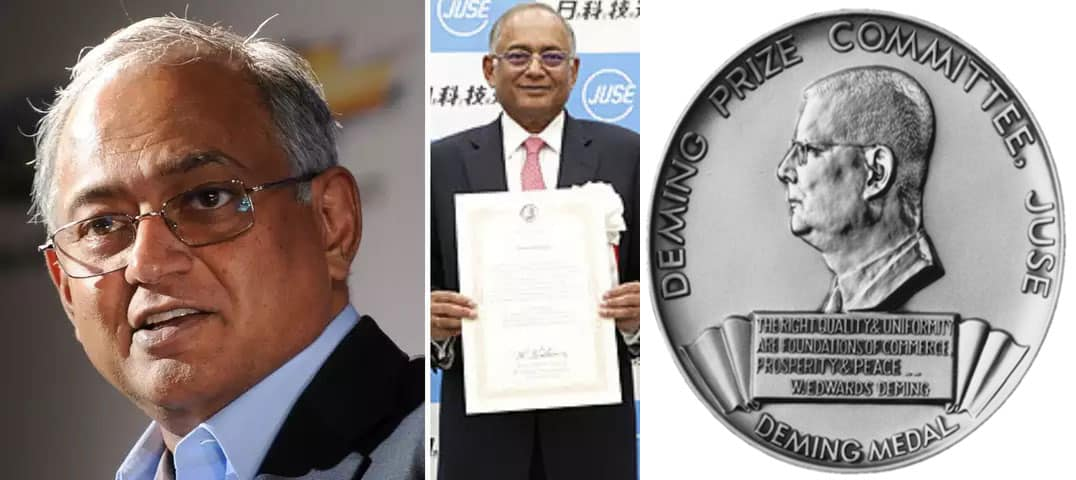 Tvs venu srinivasan Deming award
