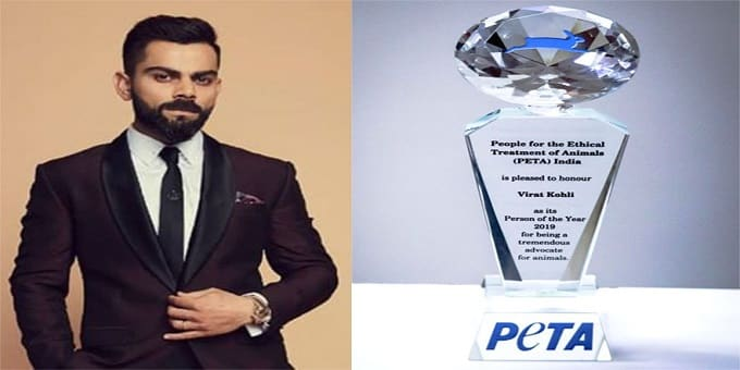 Virat Kohli named PETA India's 2019 Person of the Year