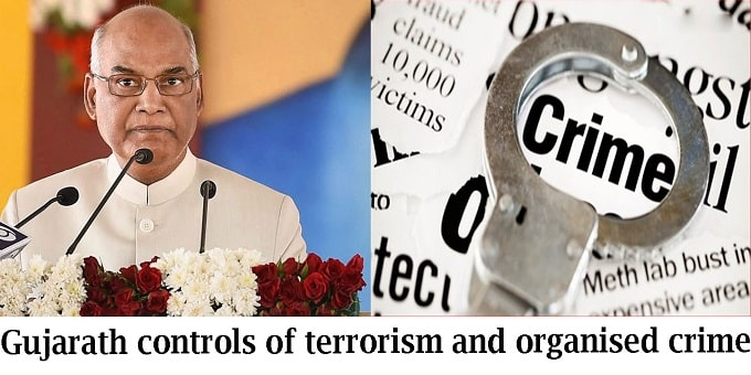 gujarath controls terrorism and crime