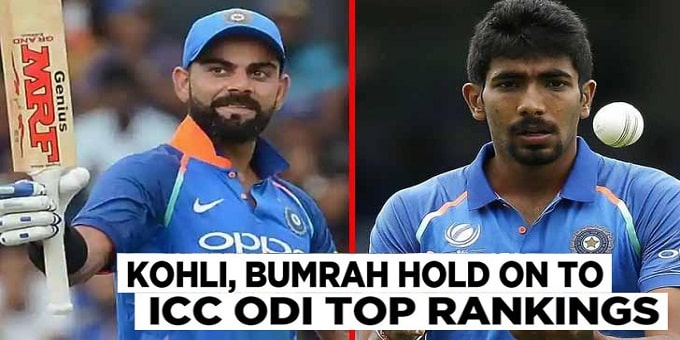 top spots in ODI rankings
