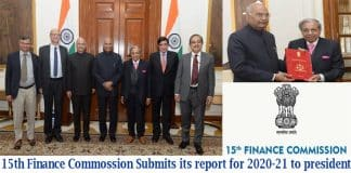 15th Finance Commission submits its report for 2020-21