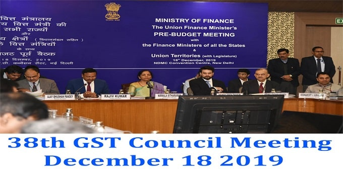 38th GST Council Meeting held in Delhi