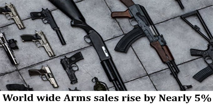 Arms sales worldwide up nearly 5%