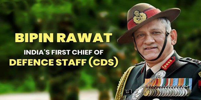 Army chief General Bipin Rawat becomes India's first Chief of Defence Staff