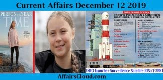 Current Affairs Today December 12 2019