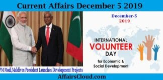 Current Affairs Today December 5 2019