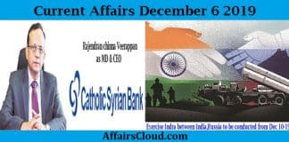 Current Affairs Today December 6 2019