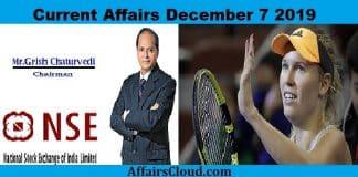 Current Affairs December 7 2019