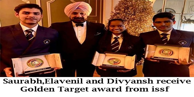Golden Target award from ISSF