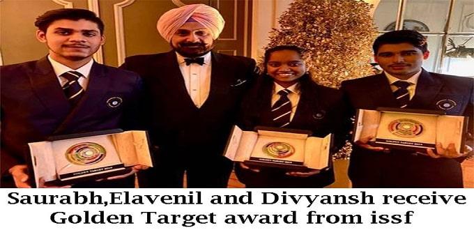 Golden Target award from ISSF