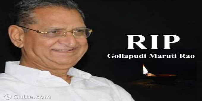 Gollapudi Maruti Rao passes away