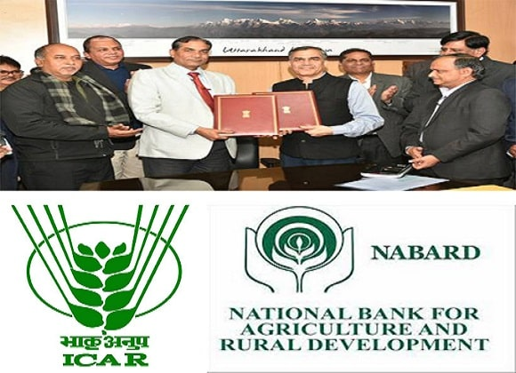 ICAR and NABARD signs MoU