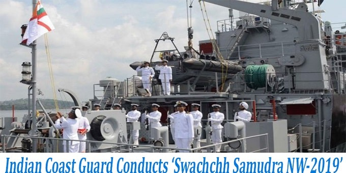 Indian Coast Guard conducts 'Swachchh Samundra NW-2019'