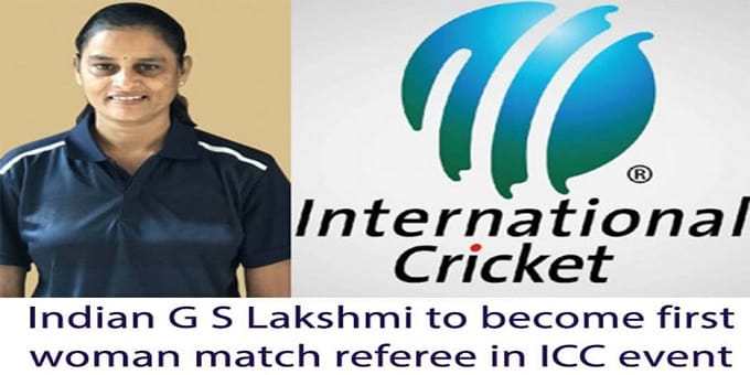 Indian GS Lakshmi to become first woman match referee in ICC event