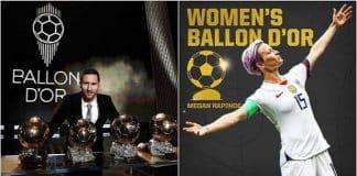 Lionel Messi sixth Ballon d'Or, Rapinoe wins women's award