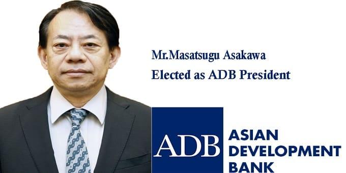 Masatsugu Asakawa elected as ADB President
