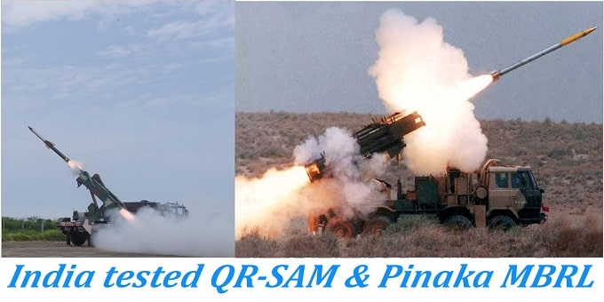 QR-SAM Pinaka guided rocket system successfully test-fired