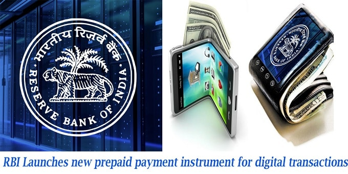 RBI launches new prepaid payment instrument