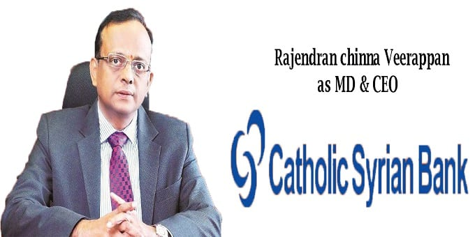 Rajendran Chinna Veerappan as MD & CEO