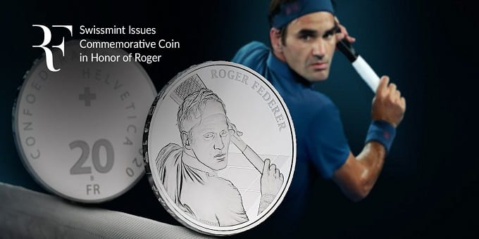 Roger Federer becomes first living Swiss to get 'coin' minted in his honour