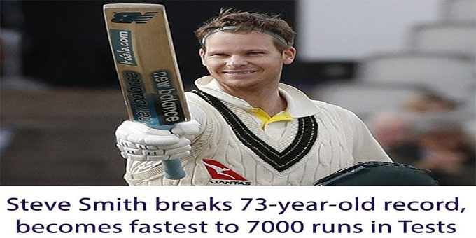 Steve Smith breaks 73-year-old record
