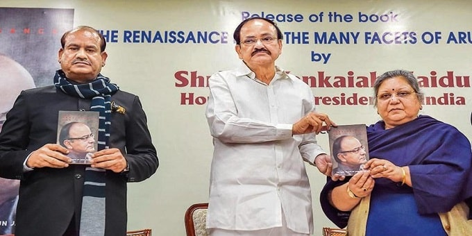 Venkaih Naidu releases book 'The Renaissance Man-The Many Facets of Arun Jaitley""