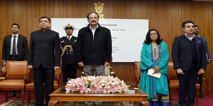 Vice President M Venkaiah Naidu released the book 'Turbulence and Triumph