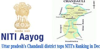 Chandauli district tops Niti's ranking