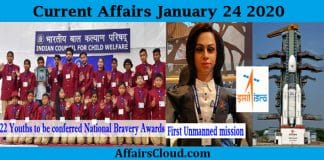 Current Affairs Today January 24 2020