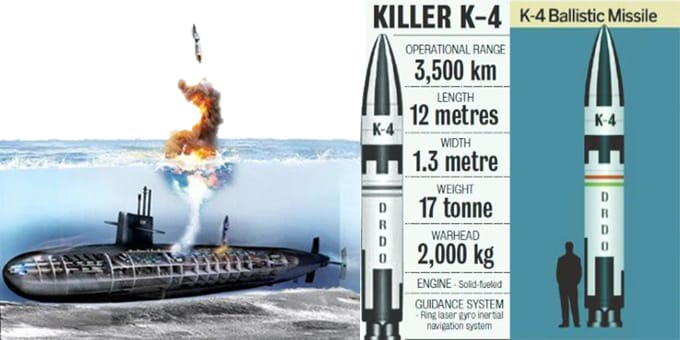 India successfully test-fired nuclear capable SLBM
