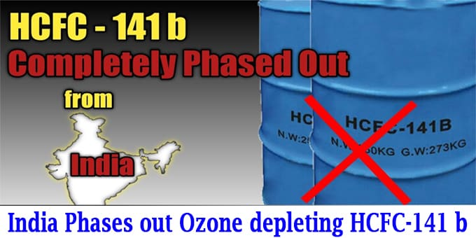 ozone depleting HCFC-141 b chemical