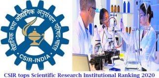 CSIR tops scientific research