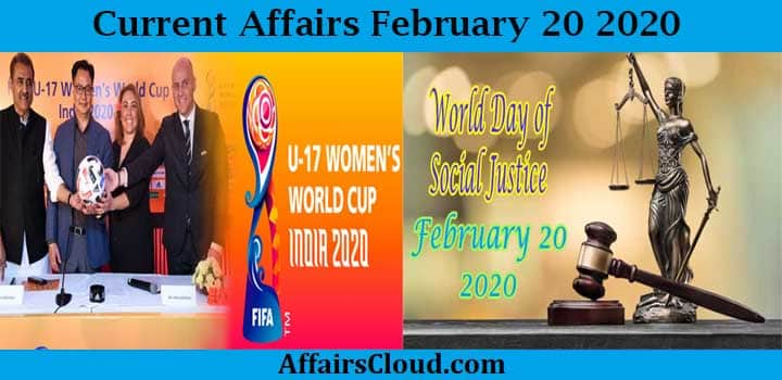 Current Affairs Today 20 2020