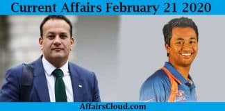 Current Affairs Today 21 2020